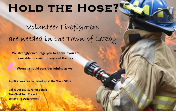 Fire Fighter Recruit Poster