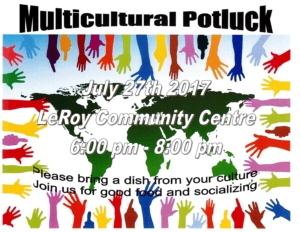 Multicultural Potluck Supper @ LeRoy Community Centre