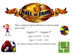 Summer Camp - Ages 6 & Under @ LeRoy Library