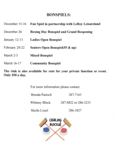 Community Bonspiel @ LeRoy Curling Rink