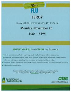 LEROY FLU CLINIC @ LeRoy School