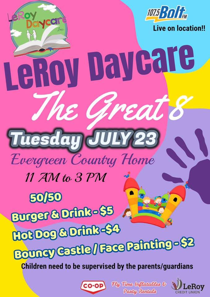 LeRoy Daycare - The Great 8 @ Evergreen Country Home